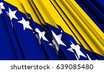 fragment flag of bosnia and... | Shutterstock . vector #639085480