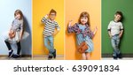 Collage Of Stylish Cute Kids...