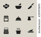 set of 9 editable food icons.... | Shutterstock .eps vector #639095890
