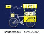 lemonade stall  push cart... | Shutterstock .eps vector #639100264