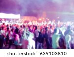 blurry night club dj party