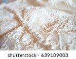 wedding dress detail | Shutterstock . vector #639109003