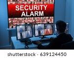male operator monitoring... | Shutterstock . vector #639124450