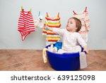 little helpers cute girl with... | Shutterstock . vector #639125098