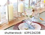detail  image of elegant dining ... | Shutterstock . vector #639126238