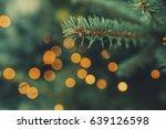 fir tree spruce branch with... | Shutterstock . vector #639126598