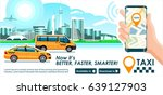 taxi   trucking industry app... | Shutterstock .eps vector #639127903