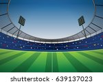 soccer stadium football cheer... | Shutterstock .eps vector #639137023