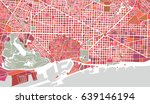 vector map of the city of... | Shutterstock .eps vector #639146194