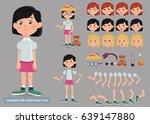 creation of cartoon character... | Shutterstock .eps vector #639147880