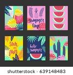 cute creative card template ... | Shutterstock .eps vector #639148483