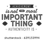 achievement is not the most... | Shutterstock .eps vector #639153994