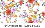 seamless floral pattern in... | Shutterstock .eps vector #639154183