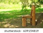 old wooden chair outdoor | Shutterstock . vector #639154819