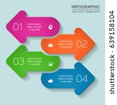 vector infographic template for ... | Shutterstock .eps vector #639158104