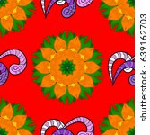 decorated card with mandala in... | Shutterstock . vector #639162703