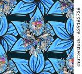 abstract vector seamless... | Shutterstock .eps vector #639162736