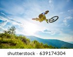 professional rider is jumping... | Shutterstock . vector #639174304