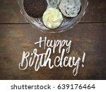 happy birthday script message... | Shutterstock . vector #639176464