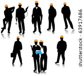 builder people silhouette.vector | Shutterstock .eps vector #63917686