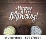 happy birthday message with... | Shutterstock . vector #639178594