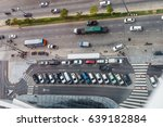 vertical aerial view over car... | Shutterstock . vector #639182884