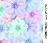 summer seamless background with ... | Shutterstock .eps vector #639190990