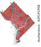 vector map of the city of... | Shutterstock .eps vector #639191908