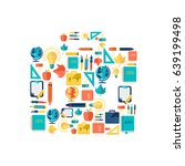 education flat concept with... | Shutterstock .eps vector #639199498