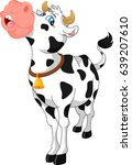 cute cow cartoon | Shutterstock .eps vector #639207610