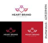 heart logo  label  icon design. ... | Shutterstock .eps vector #639209494