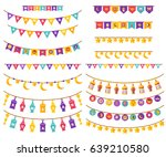 ramadan kareem decorations set... | Shutterstock .eps vector #639210580
