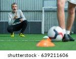 football coach training... | Shutterstock . vector #639211606