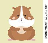 Cartoon Animal  Cute Hamster O...