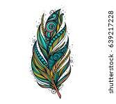 Isolate feather icon illustration Rasterized copy.