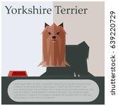 yorkshire terrier colourful... | Shutterstock .eps vector #639220729
