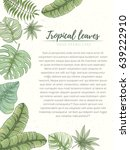 hand drawn tropical palm leaves ... | Shutterstock .eps vector #639222910