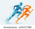 man vs woman. runners vector... | Shutterstock .eps vector #639227380