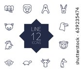 set of 12 alive outline icons... | Shutterstock .eps vector #639235474
