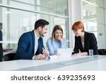 business people in office. | Shutterstock . vector #639235693