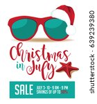 christmas in july marketing... | Shutterstock .eps vector #639239380