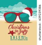 christmas in july marketing... | Shutterstock .eps vector #639239386