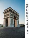 the triumphal arch is a... | Shutterstock . vector #639239884