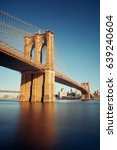 brooklyn bridge at waterfront... | Shutterstock . vector #639240604