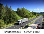 truck transportation | Shutterstock . vector #639241480