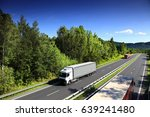 truck on the road | Shutterstock . vector #639241480