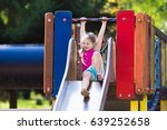 child playing on outdoor... | Shutterstock . vector #639252658