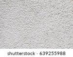 white plaster texture closeup. | Shutterstock . vector #639255988