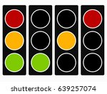 traffic light  traffic lamp... | Shutterstock .eps vector #639257074