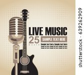 vector banner with an acoustic... | Shutterstock .eps vector #639262909